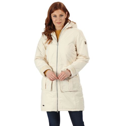 Women's Romina Waterproof Insulated Parka Jacket Light Vanilla